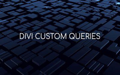 Divi Custom Queries