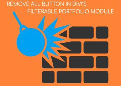 Divi Filterable Portfolio Remove All Button