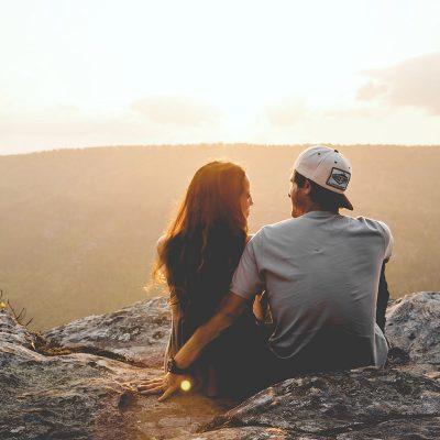 Couple on Cliff Edge
