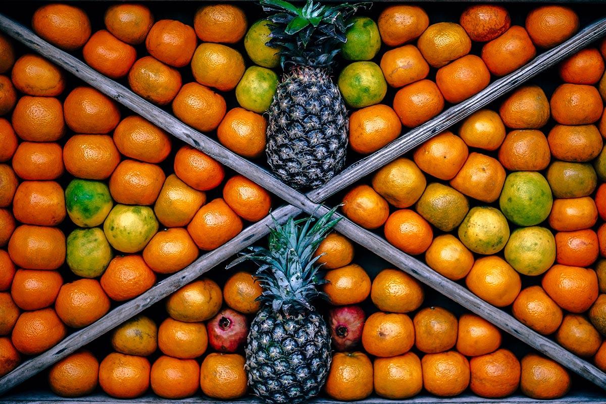 Orange and Pinapple Fruit