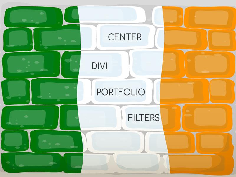 Divi Center Portfolio Filters