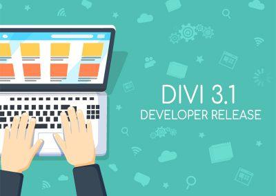 Divi 3.1 Developer Release
