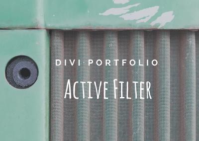 Divi Filterable Portfolio Active Filter Link