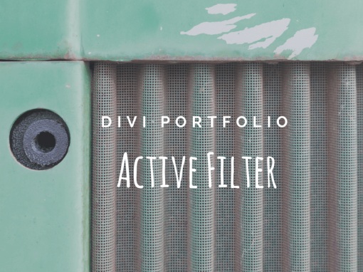 Divi Filterable Portfolio Active Filter Link