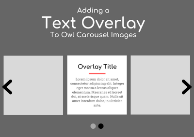 Adding a Text Overlay to Owl Carousel Images