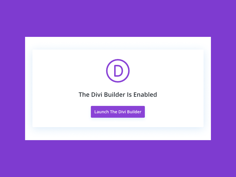 Switch back to Divi backend page builder