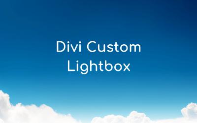 Divi Custom Lightbox