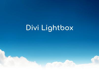Divi Lightbox
