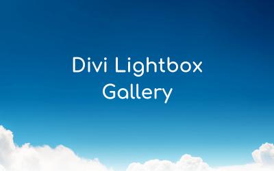 Divi Lightbox Gallery