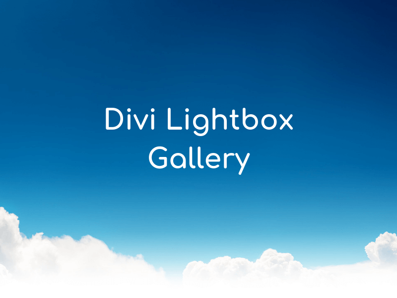 Divi Lightbox Gallery
