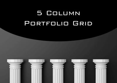Change Portfolio Grid to Five Columns